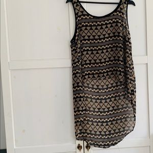 Forever 21 high low chevron pattern tank